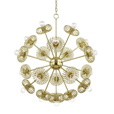 Mitzi by Hudson Valley Lighting Serena 9-light Polished Brass Chandelier