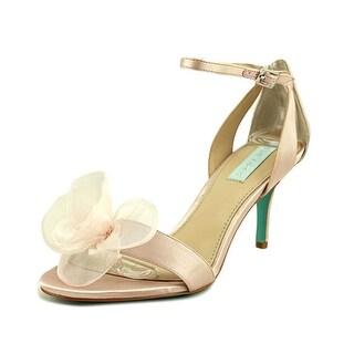 Betsey Johnson Maddi Women  Open-Toe Canvas Pink Heels