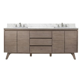 "Avanity COVENTRY-VS73  Coventry 73"" Free Standing Double Vanity Set with Wood Cabinet, Marble Vanity Top and Two Ceramic"