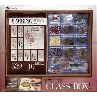 Jewelry Basics Class In A Box Kit-Gold & Copper Earrings - GOLD