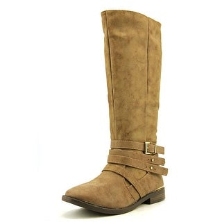 Qupid Vance Women Round Toe Synthetic Tan Knee High Boot