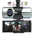 "Indigi® XR300 CarDVR (Front+Rear) Dual Camera DashCam Driving Recorder w/ 2.7"" Split LCD + GPS Tracker + 32gb microSD Included - Thumbnail 0"