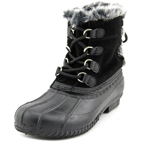 Tommy Hilfiger Rellenna Women Round Toe Suede Black Winter Boot