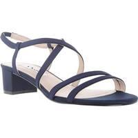 Nina Women's Gaelen Strappy Sandal Navy Faille