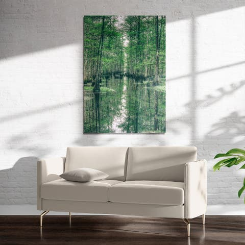 GREEN MEADOWLANDS Art on Acrylic by Kavka Designs