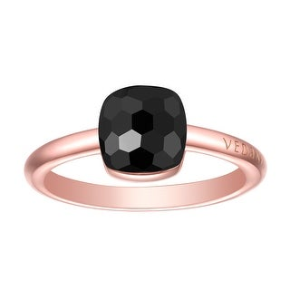 Vedantti Magic Honeycomb Cut Black Onyx Gemstone Protector Solitaire Ring