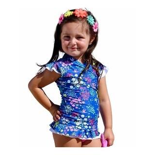 Link to Sun Emporium Little Girls Navy Pink Liberty Lulu Rash Guard Nappy Cover Sun Set Similar Items in Girls' Clothing