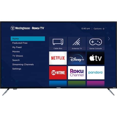 Westinghouse 55 in 4K Ultra HD Roku TV Bundle w/ HDMI Cable - Black