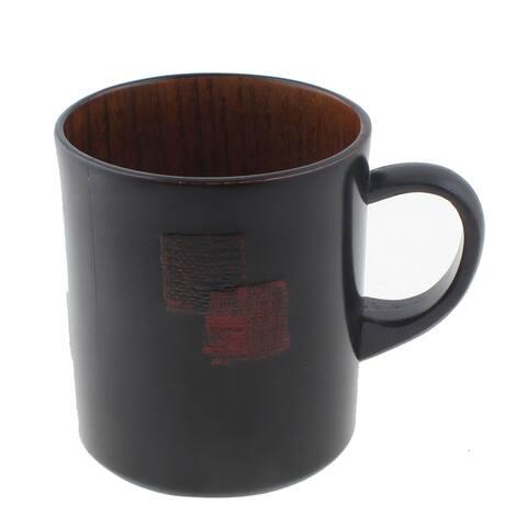 Home Office Coffee Tea Wine Water Wooden Drinking Cup Mug Balck 260ml