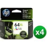 HP 64XL Ink Cartridge - Tri-Color (N9J91AN) (4-Pack)