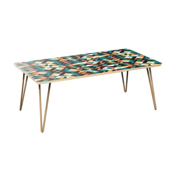 42 X 22 15 75 In Brixton Hairpin Coffee Table Retro
