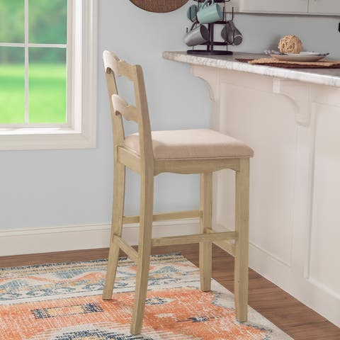 Fulton White-Washed Bar Stool