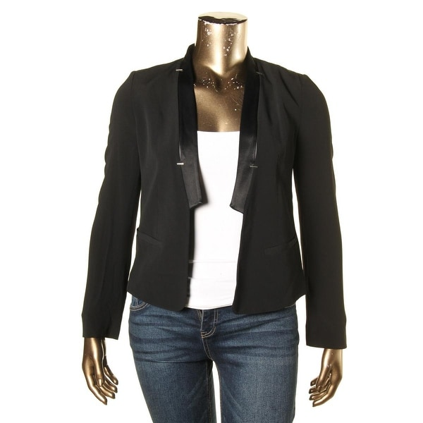 16f5c9118 French Connection Womens Tuxedo Blazer Crepe Shoulder Pad - 10