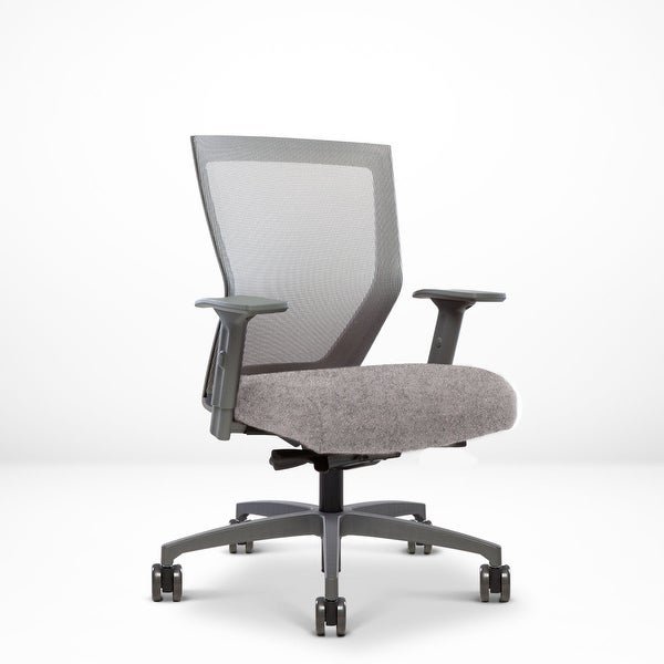 Run II, Ergonomic Mesh Chair, Synchro Tilt, Adjustable Arm, Built-In Natural Lumbar, Grey Frame, Light Beige Seat. Opens flyout.