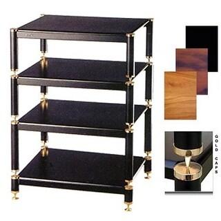 4 Gold Capspike Black Poles 1 Oak Shelf 7 in. High Additional Shelf