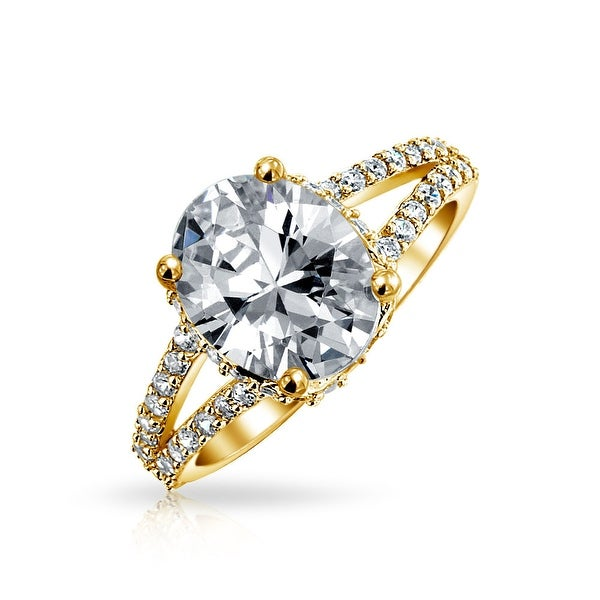 Engagement Rings Sterns: Shop Bling Jewelry Gold Plated .925 Sterling Silver 3ct