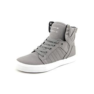 Supra Skytop Round Toe Canvas Sneakers