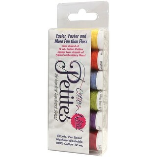 Sulky Sampler 12wt Cotton Petites 6/Pkg-Summer Assortment