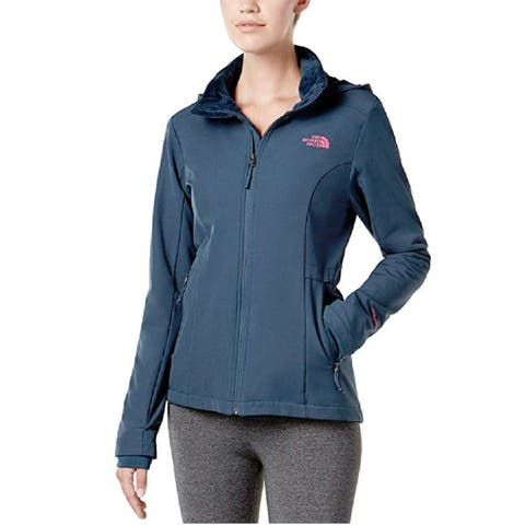 The North Face Women's Hooded Water-Repellent Fleece Jacket Ink Blue Size Extra Small - X-Small
