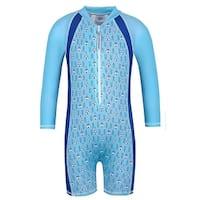 Sun Emporium Boys Blue Tee Pee Print UPF50+ Protective Sun Suit