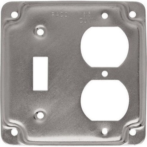 Raco 906C Square Steel Electrical Box Cover, 4, 7.3 Cu. In.
