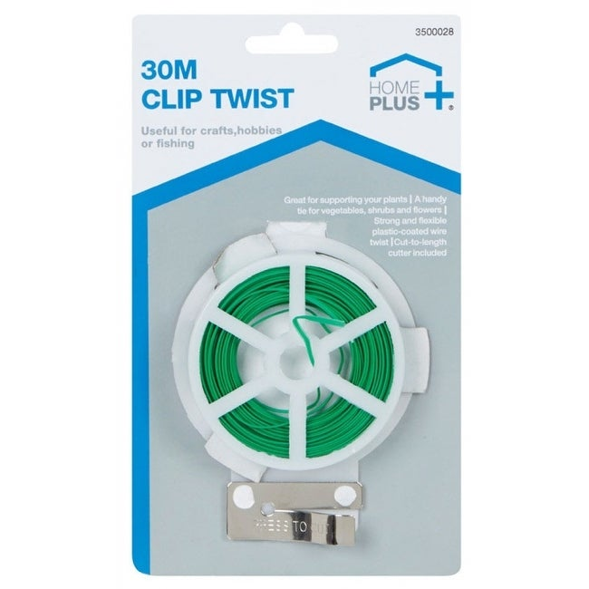 Home Plus 3500028 Wire Ties With Cutter, Green, 98