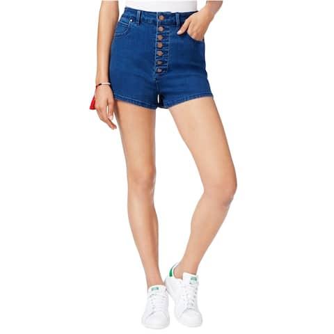 Rachel Roy Womens High Rise Button Front Casual Denim Shorts