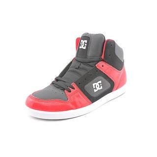 DC Shoes Union HI Men Round Toe Leather Red Skate Shoe