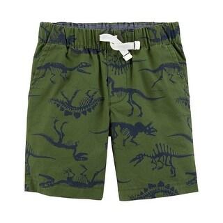 Carter's Baby Boys' Easy Pull-On Dinosaur Shorts, Olive