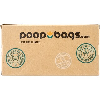 PoopBags Recycled 36x18 Cat Pan Liners, 10 Count- Eco- Friendly Kitty Litter Liners- 2.4 Mil