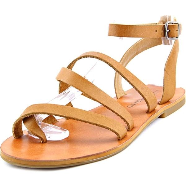 Lucky Brand Aubree Women  Open Toe Leather Brown Gladiator Sandal