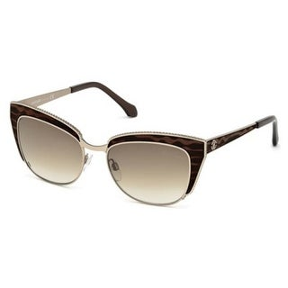 Roberto Cavalli Eyewear Shiny Light Bronze Frame Gradient Brown Lens Sunglasses