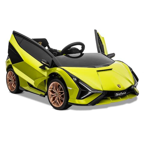 Kidzone 12V Electric Ride On Licensed Lamborghini Roadster 8 Colors - standard