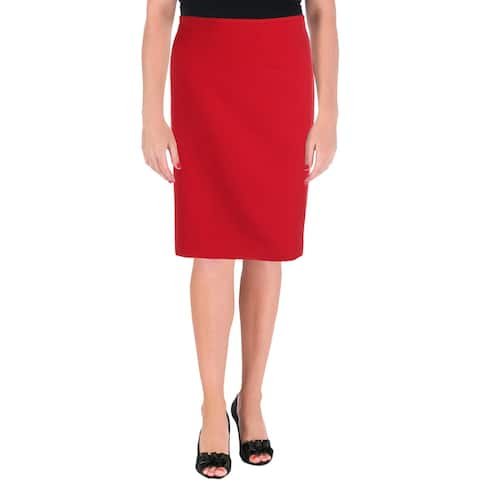 Tahari ASL Womens Pencil Skirt Textured Office