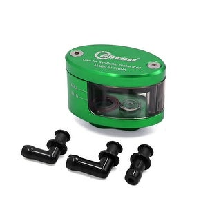 Green CNC Front Brake Clutch Master Fluid Reservoir Oil Cup For Motorcycle