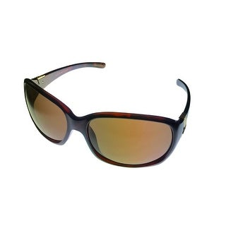Jill Stuart Sunglass 1038 2 Womens Demi Brown Plastic Wrap, Brown Lens - Medium
