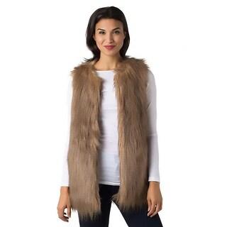 Black Swan Womens Frost Casual Vest Faux Fur Lined