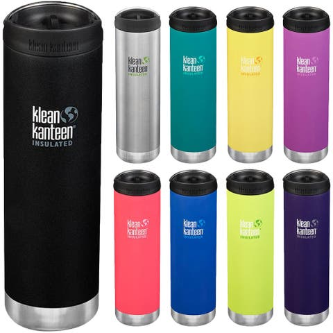 Klean Kanteen 20 oz. TKWide Insulated Stainless Steel Bottle with Cafe Cap - 20 oz.