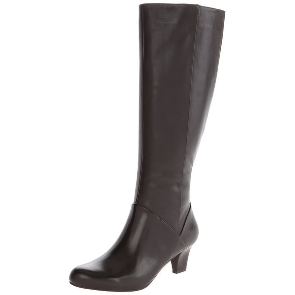 Trotters NEW Brown Women Shoe Size 7W Posh Knee-High Leather Boot