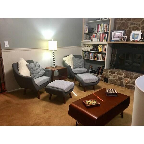 Elijah Patio Furniture.Shop Simple Living Elijah Mid Century Gray Chair And Ottoman Set