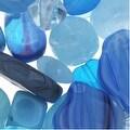 Thumbnail 1, Czech Glass Bead Mix Lot Assorted Shapes Aqua Capri Blue (2 oz.).