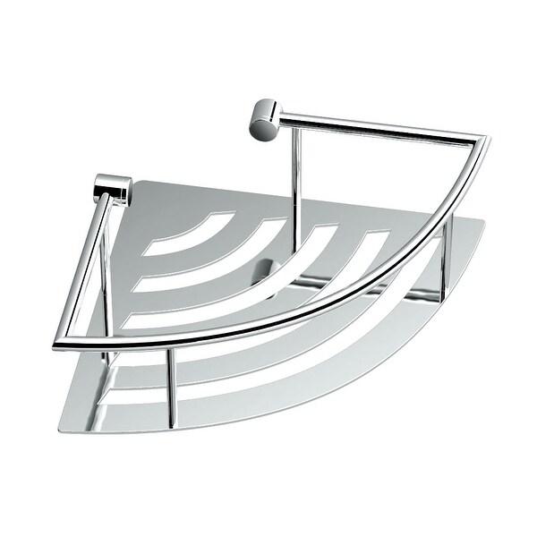Gatco 1455 Traditional Corner Wall Mounted Shower Basket Chrome
