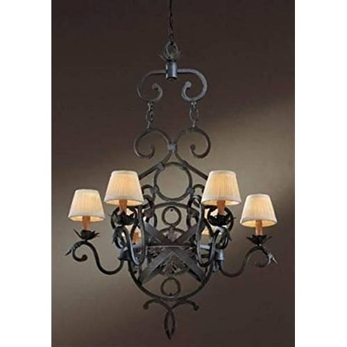 Minka Lavery 744 Contemporary / Modern Six Light Up Lighting Chandelier from the Prescott Collection - Antigua