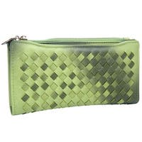 Mad Style Green Ombre Weave Wallet