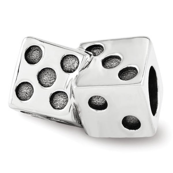 Sterling Silver Reflections Dice Bead (4mm Diameter Hole)