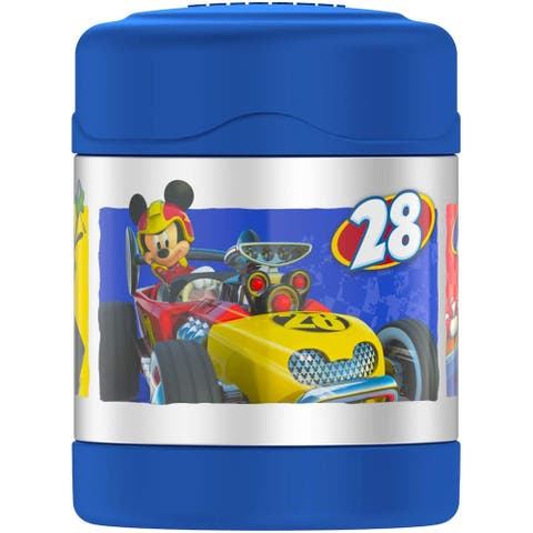 Thermos FUNtainer Mickey Mouse Roadster Racers Food Jar, Blue, 10 Ounces