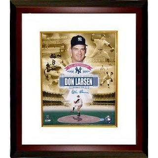 Signed Don Larsen signed New York Yankees 11x14 Collage Photo Custom Framed 1956 WS Perfect Game 50