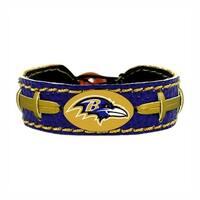 Baltimore Ravens Team Color NFL Gamewear Leather Football Bracelet