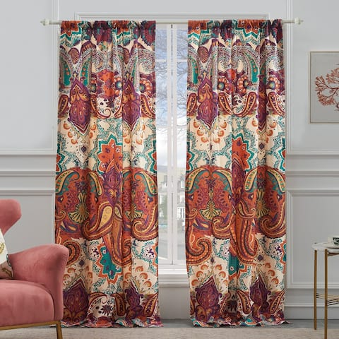 The Curated Nomad Horsdal Spice Curtain Panel Pair - 84 x 84 inches