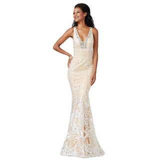 JVN by Jovani Womens Formal Dress Embroidered Embellished (Option: 2)